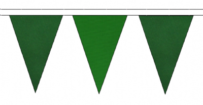 DARK GREEN AND MID GREEN TRIANGULAR BUNTING - 10m / 20m / 50m LENGTHS